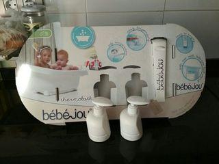 dispensadores, termometro y soporte bañera bebejou