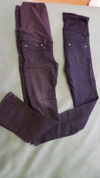 Pantalones (2) vaqueros para embarazada talla S