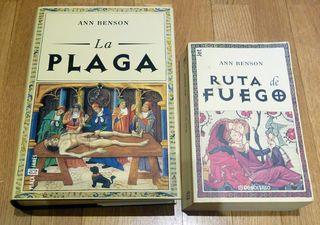 LIBROS RUTA DE FUEGO Y LA PLAGA DE ANN BENSON