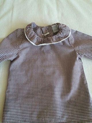 Camisa unisex Dadati, talla 6 meses. Impecable.