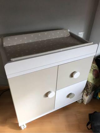 Mueble cambiador bebé