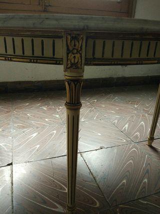 mesa de centro de marmol antigua
