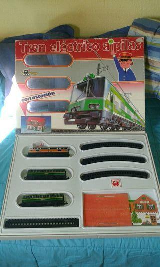 tren electrico a pila