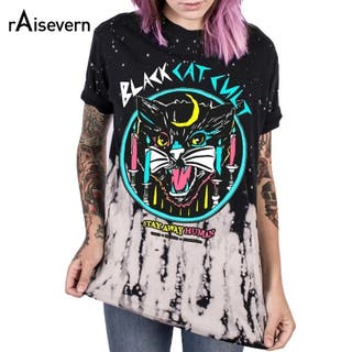Camiseta Black cat cult