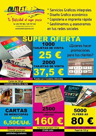 publicidad, flyers, tarjetas de visita