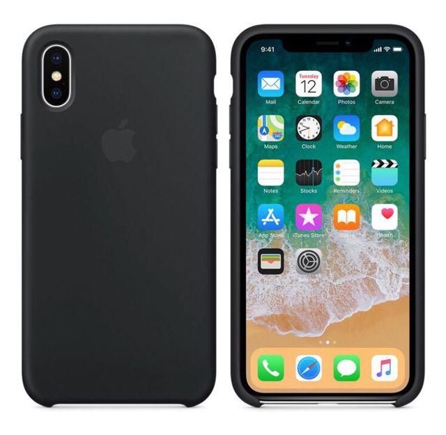 iPhone X Funda Silicone Case ORIGINAL APPLE Negro/Negra