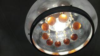 lampara de techo vintage de cristal