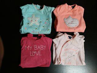 lote 4 pijamas talla 1 mes. ropa bebe