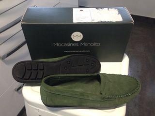 Mocasines Manolito verde T.40