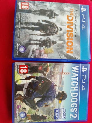 Whatch dogs 2 y Tom Clancy's the division