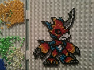 Flamedramon Hama beads