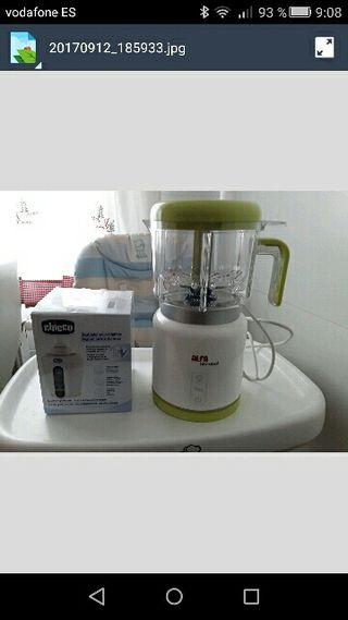 Calientabiberones y potitos y robot cocina bebe