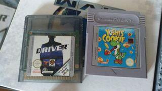 juegos game boy color (driver y yoshi cookie)