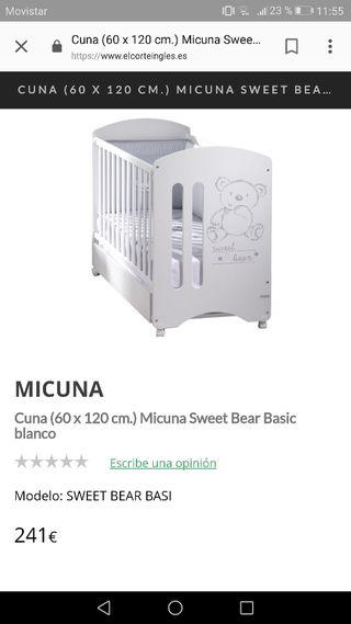 Cuna Micuna Sweet Bear nueva
