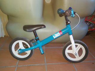 bicicleta infantil sin pedales y con freno