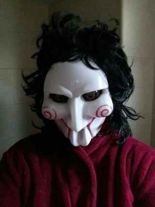 Lote de máscara y peluca Saw
