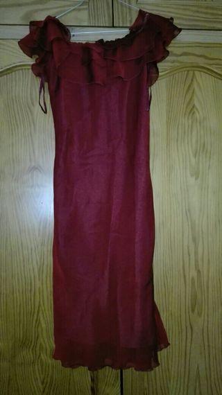 Vestido corto de fiesta color rojo