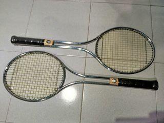 raquetas nuevas sin estrenar metálicas antiguas