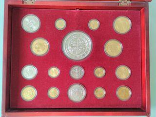estuches monedas oro y plata