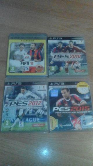 Videojuegos PES 2010,2012, Fifa 2011