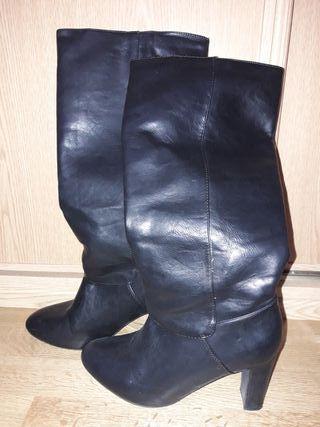 Botas Confortissimo negras tacón mujer Talla 39