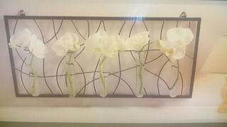 A ESTRENAR. Soporte Mural hierro para flores