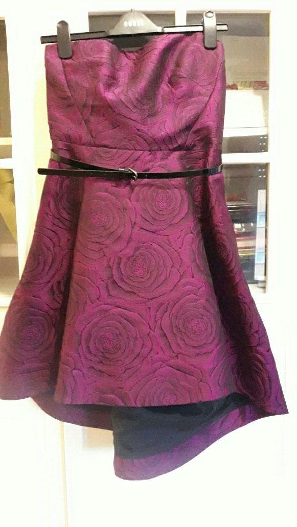 Vestido fiesta violeta negociable de segunda mano por 85 € en ...