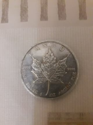 5 dolares plata 1991