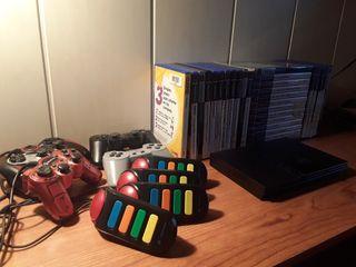 PlayStation 2 +4 Mandos + 25 Juegos + Memory Card