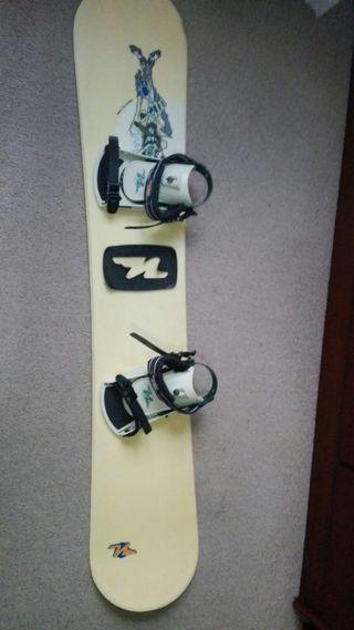 tabla de snow, botas y funda