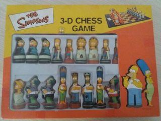 Juego de ajedrez 3-D The Simpsons