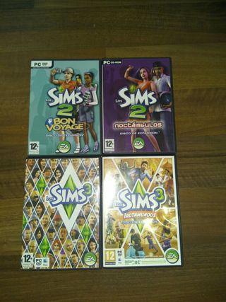 Los Sims. Varios DVDs para PC