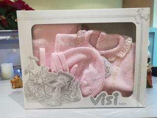 Traje de perle bebé rosa