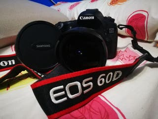 cámara canon 60D + objetivo ojo de pez