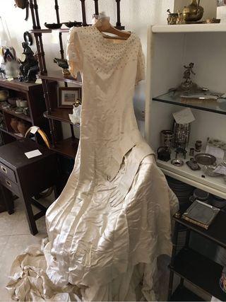 vestido de novia vintage de segunda mano en wallapop