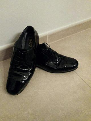 De Hombre Por Charol 50 Segunda Mano Zapato q8ZEag