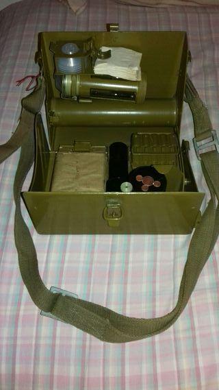 Antiguo kit militar detector de gases