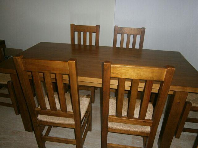 Mesa y sillas madera comedor de segunda mano por 350 € en Sant ...