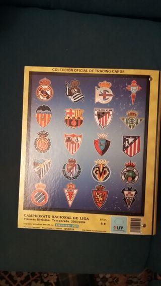 álbum fichas de la liga 2004