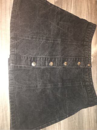 Washed out black A-line skirt, used for sale  UK