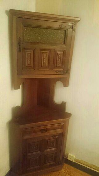 Mueble esquinero macizo madera noble de segunda mano por 149 en a coru a en wallapop - Muebles segunda mano coruna ...