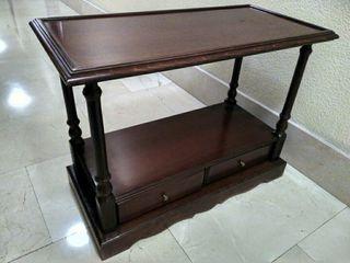 mesa auxiliar madera80x40x60cm