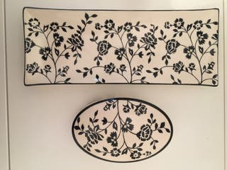 Petit plateau et boite ceramiq