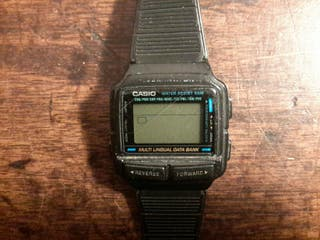 Reloj Casio DB 59. Multilingual data bank.