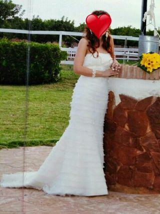 vestido de novia de segunda mano en valencia en wallapop