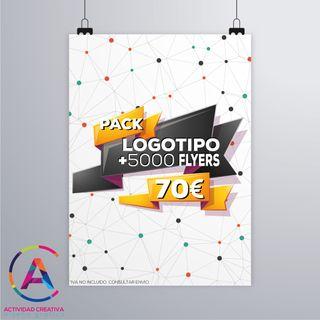 Diseño de logo más 5000 flyers
