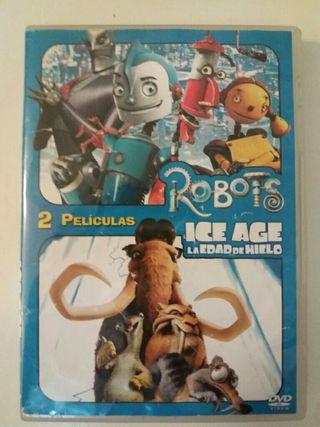 2 DVD - Robots + Ice age