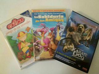 Lote 3 películas infantiles por 2€