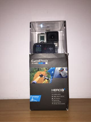 Cámara Gopro HERO 3plus Black Ed. + accesorios + SD