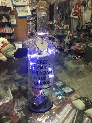 Botellas frase con luz